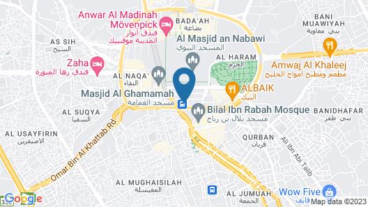 Crowne Plaza Madinah, an IHG Hotel Map