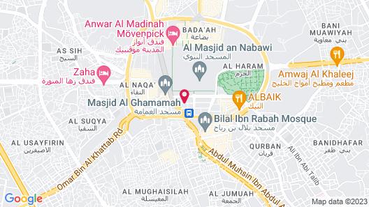 Rehab Al Nour Hotel Map