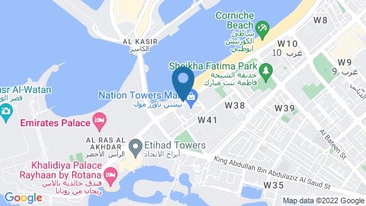 The St. Regis Abu Dhabi Map
