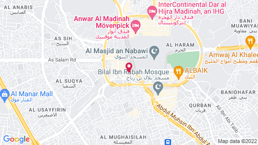 Millennium Taiba Hotel Madinah Map
