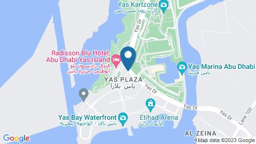 Yas Island Rotana Map