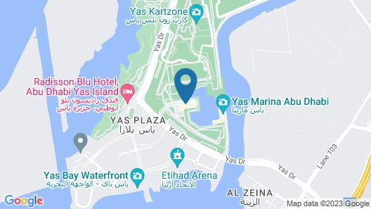 W Abu Dhabi - Yas Island Map