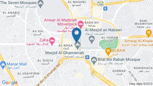 Ramada by Wyndham Madinah Al Qibla Map
