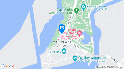 Park Inn by Radisson Abu Dhabi Yas Island Map