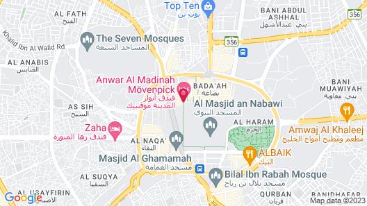 Anwar Al Madinah Movenpick Hotel Map