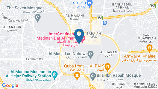 Anwar Al Madinah Movenpick Hotel Map