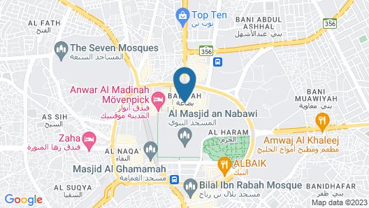 Shaza Madinah Hotel Map