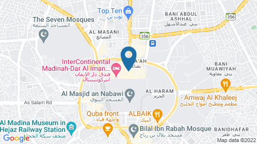 Madinah Hilton Map
