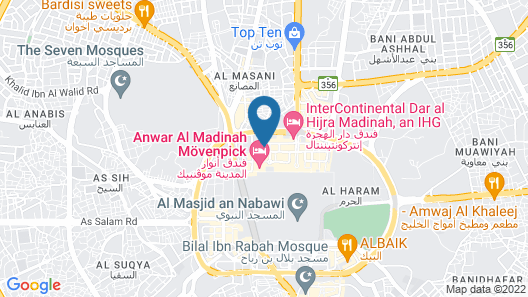 Al Shourfah Hotel Madinah Map