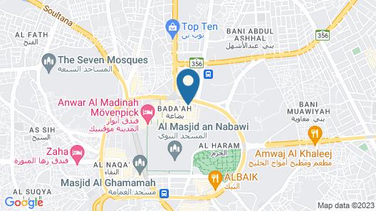 Mubarak Silver Hotel Map