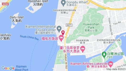 Pan Pacific Xiamen Map