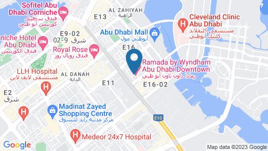 Ramada by Wyndham Abu Dhabi Downtown Map