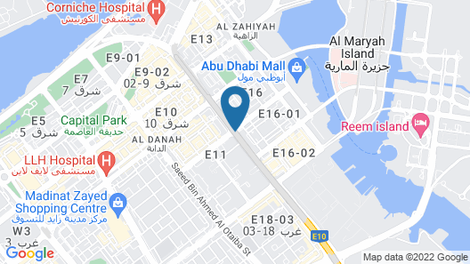 Kingsgate Hotel Abu Dhabi Map
