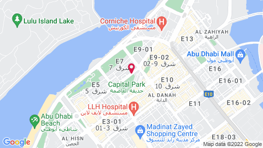 Corniche Hotel Abu Dhabi Map
