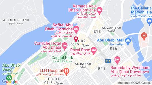Le Royal Meridien Abu Dhabi Map