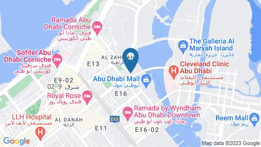 Le Meridien Abu Dhabi Map