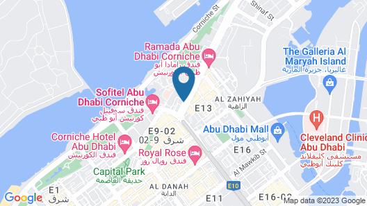 Southern Sun Abu Dhabi Map