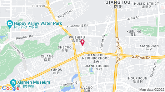 Xiamen landscape Hotel Map