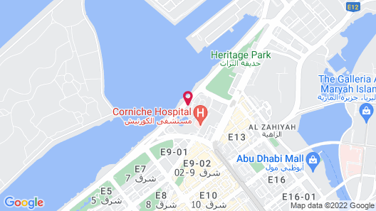 Sheraton Abu Dhabi Hotel & Resort Map