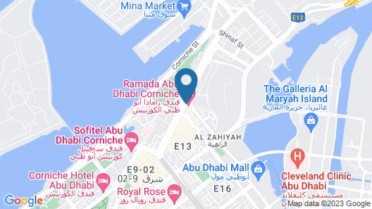 Ramada by Wyndham Abu Dhabi Corniche Map