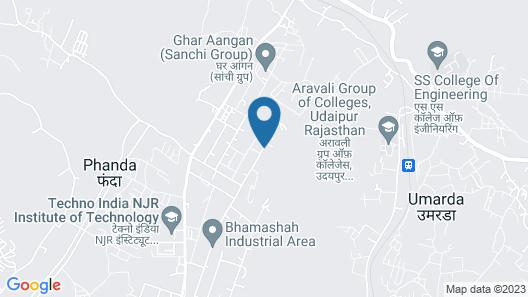 Cambay Resort Udaipur Map