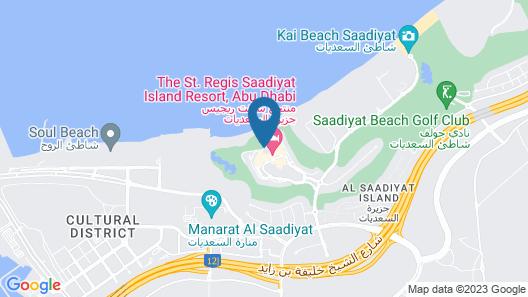 The St. Regis Saadiyat Island Resort, Abu Dhabi Map