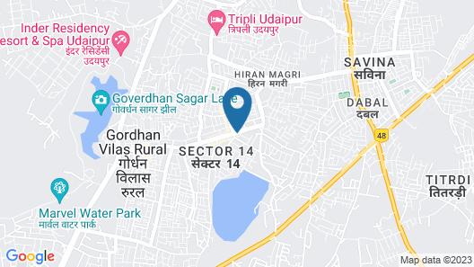 Hotel Suraj Palace Map