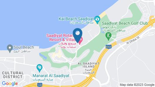 Saadiyat Rotana Resort and Villas Map