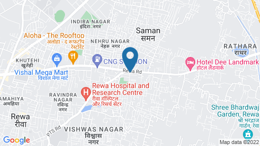 Hotel aaditya Map