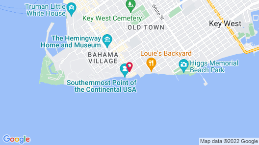 Southernmost Point Guest House Map