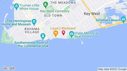 Casa Marina Key West, A Waldorf Astoria Resort Map