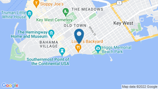 Seashell Motel & Key West Hostel Map