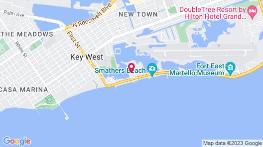 Barbary Beach House Key West Map