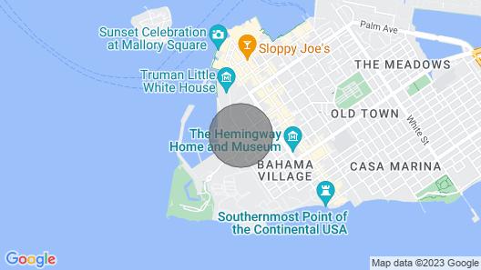 Sea Breeze Cottage in Truman Annex Location! Location! Location! Map