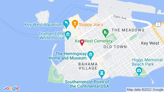 The Cabana Inn Key West-Adults Only Map