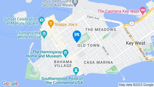 KEY WEST Old Town, 2 Bedrooms 2-1/2 Baths, Quiet Neighborhood, Map