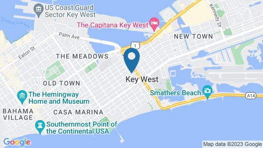 Modern Midtown Hideaway W/ Big Backyard Pool 3 Bedroom Home Map