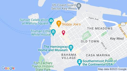 Crowne Plaza Key West-La Concha Map