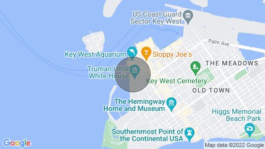 Old Town Key West Sunset Harbor 2-Bedroom Oasis, + Amenities  Map