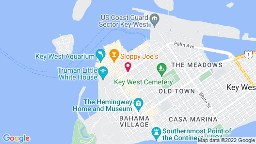 Artist House Key West Map