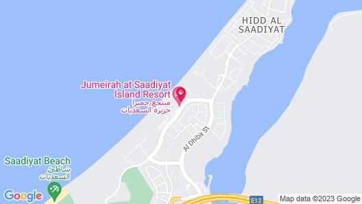 Jumeirah at Saadiyat Island Resort Map