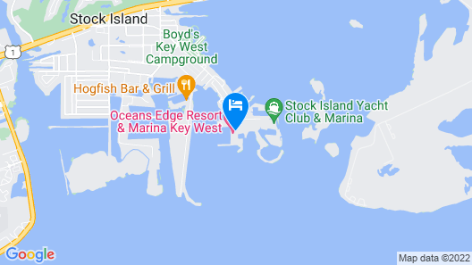 Oceans Edge Key West Resort, Hotel & Marina Map