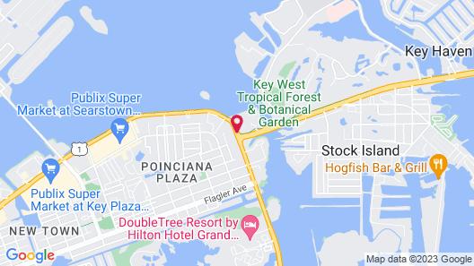 Hilton Garden Inn Key West,The Keys Collection Map