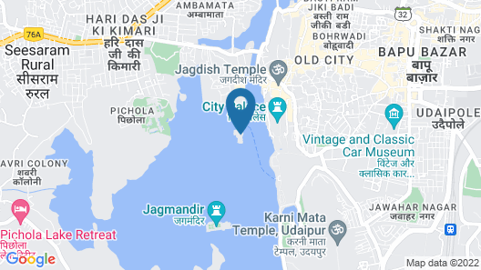Taj Lake Palace Map