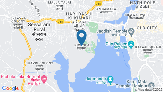 Trident, Udaipur Map