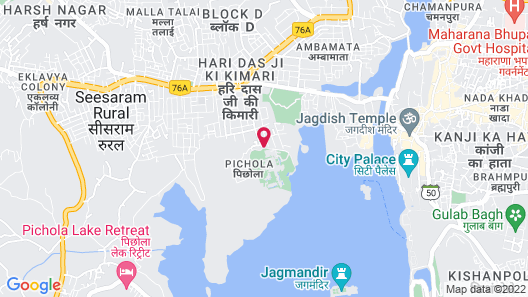 The Oberoi Udaivilas, Udaipur Map