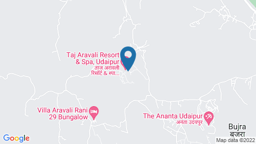 Taj Aravali Resort & Spa Map