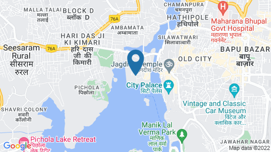 The Leela Palace Udaipur Map