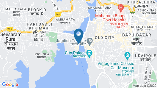 Hotel Sarovar on Lake Pichola Map