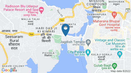 Bloom Boutique   Lake Pichola Heritage Hotel Map